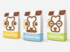 Packaging de unas galletas para #perros, donde se ha utilizado la propia forma de la galleta para el logo