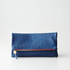 Clare Vivier Foldover Basketweave Clutch | Womens Bags & Leather Goods | Steven Alan