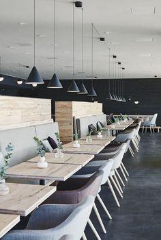 The public sauna and restaurant Löyly in Helsinki Finland. Interior design by…