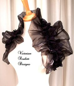 Hey, I found this really awesome Etsy listing at https://www.etsy.com/listing/106016677/victorian-gothic-black-organza-shrug