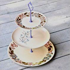 Katama 3 Tier Cake Stand Vintage China Cake par freshpastrystand, $116.00