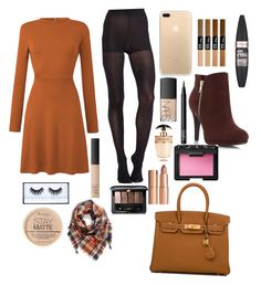 """Fall🍂🍁"" by cutiepiemahoof01 ❤ liked on Polyvore featuring Pretty Polly, Hermès, BP., Guerlain, Maybelline, NARS Cosmetics, Charlotte Tilbury, Prada, Rimmel and Huda Beauty"