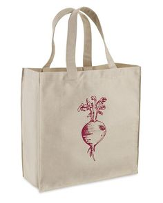 This radish tote would be cute for the farmers market.