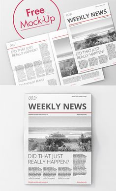 Free High Quality Newspaper PSD Mockups