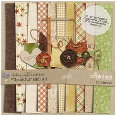 Thankful mini kit freebie from Wishing Well Creations