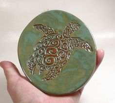 Turtle Lovers Ring Dish  Spoon Holder  Soap Dish  by Jillatay