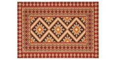 Add a pop of pattern to any space (indoors, or out) with this durable rug. It's constructed of polypropylene which is mold, mildew, and fade resistant, so this piece is perfect for the patio or...