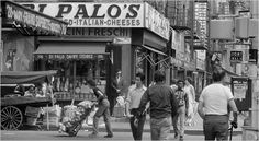 Eddie Hausner Little Italy, Grand Street at Mott Street, New York City 1974 Little Italy Nyc, Mott Street, San Gennaro, My Kind Of Town, Shopping Street, Vintage Italy, Best Cities, Yorkie, New York City