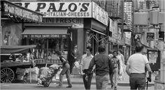 Eddie Hausner Little Italy, Grand Street at Mott Street, New York City 1974 Little Italy Nyc, San Gennaro, Mott Street, Vintage Italy, Shopping Street, My Kind Of Town, Best Cities, Yorkie, New York City