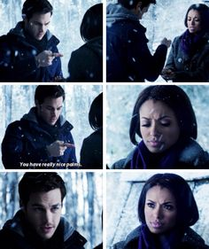 Chris wood (Kai Parker) in the Vampire diaries and Kat Graham (Bonnie Bennet). This moment was soo adorable!! #bonkai I ship these 2 so much!!!!!!!