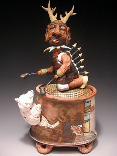 Past artist in residence Shanna Fliegel #clayartcenter #claycreatures #CACresidents