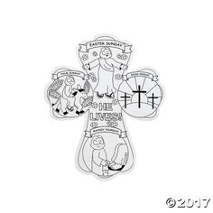 Color Your Own Holy Week Crosses. Celebrate with an easy-to-make Easter craft. Paper. 12 Markers sold separately online.  © OTCAge Recommendation:Ages 3 ...