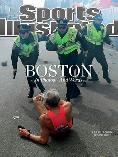 An extremely powerful Sports Illustrated cover this week honors first responders to the Boston Marathon bombing.