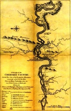 Timberlake Map of the Cherokee Country, 1762