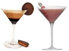 Peanut Butter Cup & Raspberry White Chocolate Truffle Martinis More