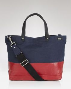 Dipped tote bag. Something similar might be easy to DIY