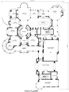 First Floor Plan of Farmhouse  Luxury   Victorian   House Plan 87642