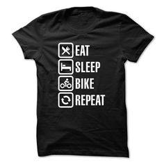 Eat sleep bike repeat T-Shirt Hoodie Sweatshirts uao. Check price ==► http://graphictshirts.xyz/?p=61246