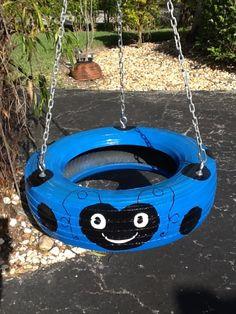Blue Ladybug Tire Swing from www.cooltireswings.com