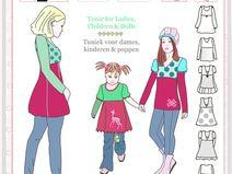 Ulla naaipatroon voor meisjes, dames en poppen