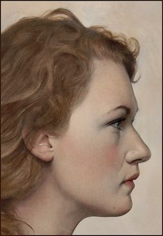 Scott E. Bartner. Hedwig in Profile. Oil on panel, 40cm. x 30cm, 2013