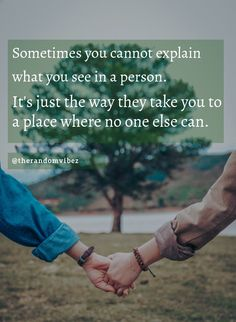 Sometimes you cannot explain what you see in a person. It's just the way they take you to a place where no one else can. #Truelovequotes #Reallovequotes #Purelovequotes #Unconditionallovequotes #Deeplovequotes #Emotionallovequotes #Lovequotes #Quotesforgf #Inspirationallovequotes #Quotesforbf #Quotes #Couplequote #Relationshipquotes #Specialquotes #Surpriselovequotes #Speciallovequotes #Cutequotes #Sweetquotes #Dailyquotes #Beautifulquotes #Quotetoinspireyou #Quotesandsayings #therandomvibez