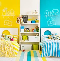 boy and girl bedroom | ... kids bedroom with separate beds for boy and girl Decorative Bedroom