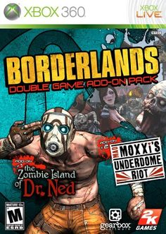 Borderlands Double Game AddOn Pack The Zombie Island of Dr Ned  Mad Moxxis Underdome Riot ** Read more reviews of the product by visiting the link on the image.