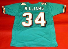 RICKY WILLIAMS AUTOGRAPHED MIAMI DOLPHINS JERSEY JSA 012c5d286