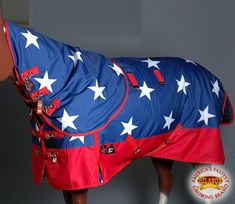 HILASON 1200D WATERPROOF TURNOUT HORSE WINTER BLANKET NECK COVER AMERICAN FLAG