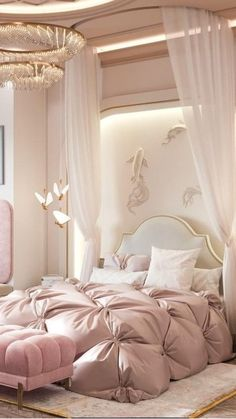 Luxury Kids Bedroom, Fancy Bedroom, Modern Kids Bedroom, Luxury Bedroom Design, Master Bedroom Interior, Bedroom Decor For Couples, Room Design Bedroom, Girl Bedroom Designs, Bedroom Furniture Design