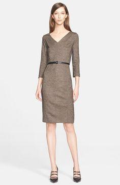 Max Mara 'Rupia' Wool Sheath Dress available at #Nordstrom