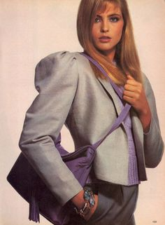 US Vogue January 1980 Accessory News--A Change of Color For Shoes, Bags, Jewelry Photo Irving Penn  Model Kim Alexis  Hair Harry King  Makeup Way Bandy