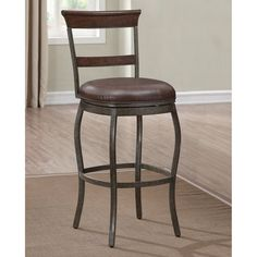AHB Riverton 30 in. Swivel Bar Stool - 130179