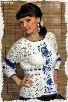 Russian Folk, Dresses With Sleeves, Long Sleeve, Handmade Ideas, Tops, Women, Painting, Fashion, Blouses