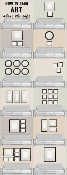 Ispirazione Wall gallery. Come riempire le pareti #interiordesign #home decor #Livingroomdesigns