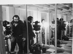 A CLOCKWORK ORANGE: KUBRICK on the small set built to match the location of the Alexander's *home.* (via ‏@mccrabb_will) (x)