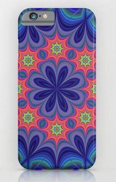 Floral kaleidoscope iPhone 6 Plus Slim Case
