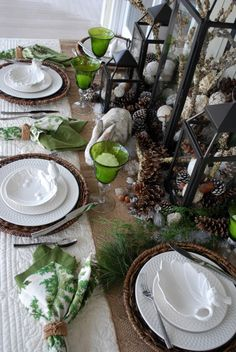 Tablescape .. Winter World @ Home is Where the Boat is