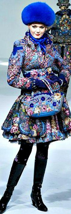 Color fashion Glam by Slava Zaitsev Fashion Colours, Colorful Fashion, Runway Fashion, High Fashion, Russian Beauty, Russian Style, Russia Fashion, Russian Culture, Glamour