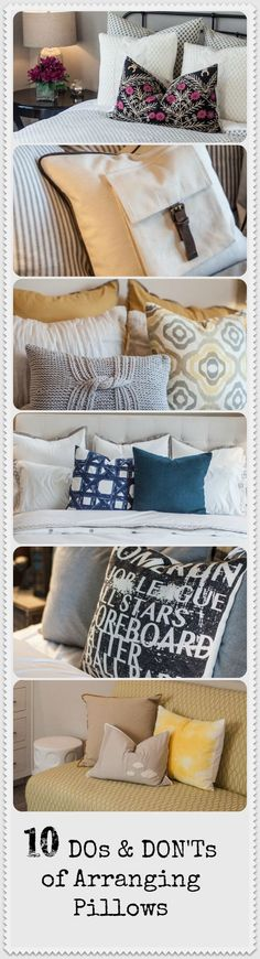 10 DOs and DON'Ts of Arranging Pillows