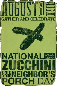 Did you know zucchini can help lower cholesterol, inflammation in the body and blood pressure amongst other things? Plus, tonight is Sneak a Zucchini on Your Neighbor's Porch Nite. No joke. Now go buy some zucchini! http://www.healthdiaries.com/eatthis/8-health-benefits-of-zucchini.html
