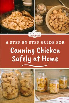 This step by step guide will help you learn how to safely can chicken at home. Home-canned chicken makes meal prep super easy. Canned Meat, Canned Chicken, How To Cook Chicken, Canning Soup Recipes, Pressure Canning Recipes, Beef Shank Recipe, Low Acid Recipes, Canning Peaches, Canning Vegetables