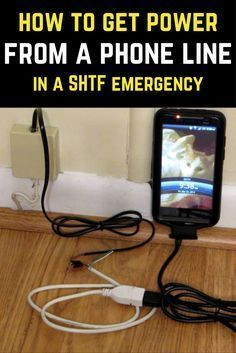 How To Get Power From A Phone Line In An Emergency #survivalhacks