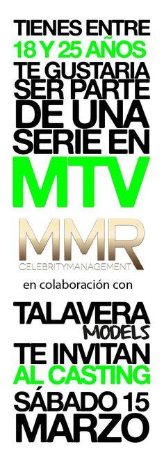 Casting para MTV NO LO PIENSES MÁS #TalaveraModelsSchool #MMRCelebrityManagement