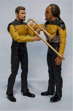 Star Trek, Image Review, Trombone, Classic Toys, Music Stuff, Movie Tv, Action Figures, Musicals, Nerd