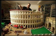 Coliseum, built from 200,000 pieces of Lego