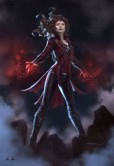 Captain America: Civil War Character Concept Art: Scarlet Witch - Andy Park