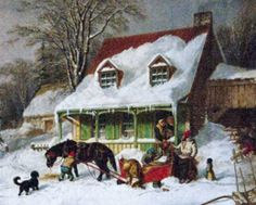 Children's author Tony Abbott will talk about Charles Dickens with visitors to Emily Dickinson's house on Dec 6 and 13. (image is Country Farmhouse in Winter by C. Krieghoff)