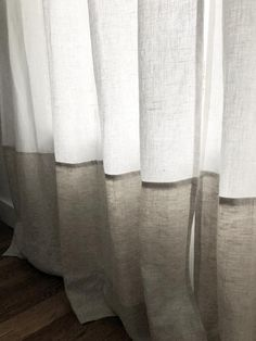 White and Oatmeal Linen Colorblock Curtain Panels – Curtains 2020 Bedroom Drapes, Curtains Living, Linen Curtains, Vintage Curtains, Bed Linen, Master Bedroom, Drapes And Blinds, Sheer Drapes, Drapery